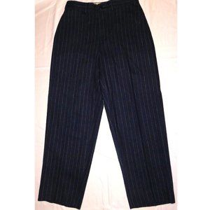 TOMMY HILFIGER WOMENS WOOL CASHMERE BLUE PANTS 10